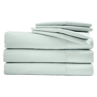 Bed Sheet Set Color: Pale Green, Size: King