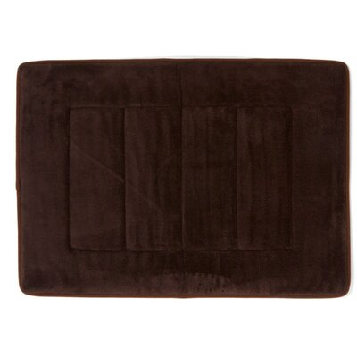 Ultra-Soft Memory Foam Bath Mat Color: Coffee Brown