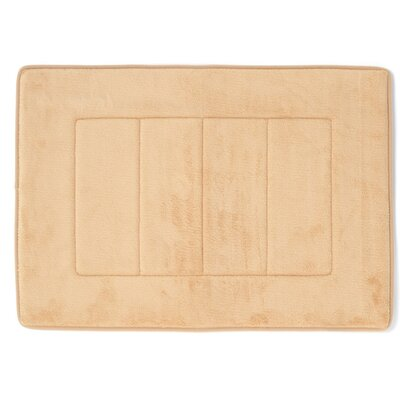 Ultra-Soft Memory Foam Bath Mat Color: Beige