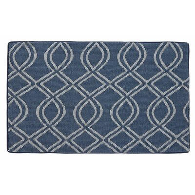 Memory Foam Navy Blue Bath Mat