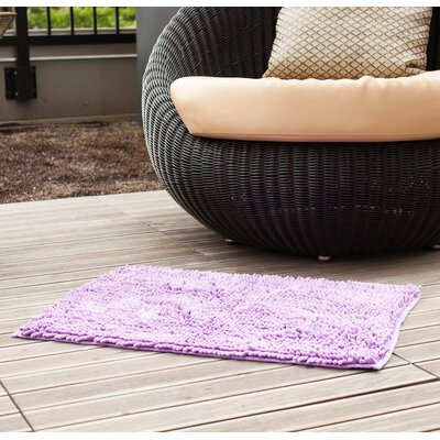 Chenille Bath Rug Rug Size: 2 4 x 1 6, Color: Lavender