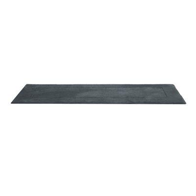 Ultra-Soft Memory Foam Bath Rug Size: 24 W x 90 L, Color: Gray
