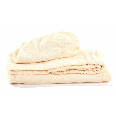 Turban Bath Wrap and Hair Set Color: Cream