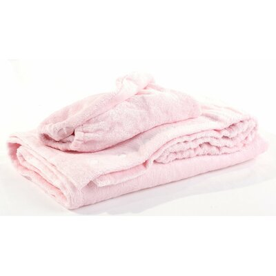 Turban Bath Wrap and Hair Set Color: Pink