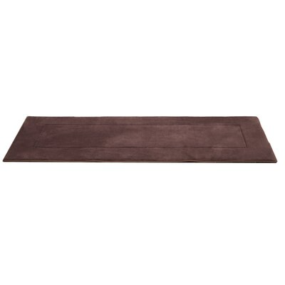 Ultra-Soft Brown Area Rug Rug Size: Runner 2 W x 7 5 L