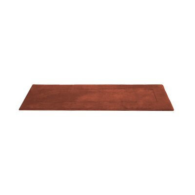 Ultra-Soft Memory Foam Bath Rug Size: 24 W x 60 L, Color: Marsala