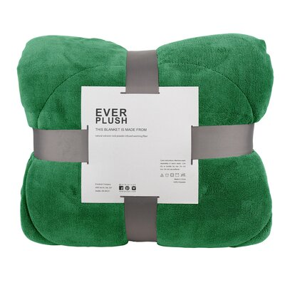 Thermal Retention Sherpa Blanket Size: Full/Queen, Color: Green