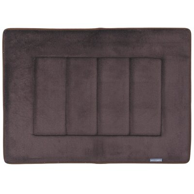 Nikrae Ultra-Soft Bath Mat Color: Coffee Brown