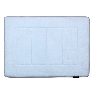 Ultra-Soft Memory Foam Bath Mat Color: Sky Blue