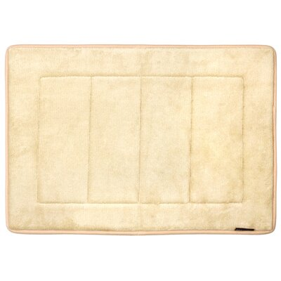 Nikrae Ultra-Soft Bath Mat Color: Beige
