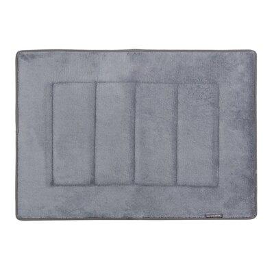 Nikrae Ultra-Soft Bath Mat Color: Slate Gray