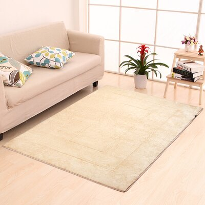 Ultra-Soft Memory Foam Bath Rug Size: 40 W x 64 L, Color: Beige