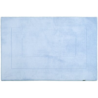 Ultra-Soft Memory Foam Bath Rug Size: 40 W x 64 L, Color: Sky Blue