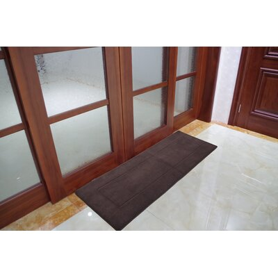 Ultra-Soft Memory Foam Bath Rug Size: 24 W x 90 L, Color: Brown