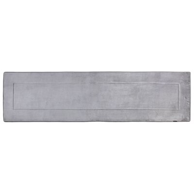 Ultra-Soft Gray Area Rug Rug Size: Runner 2 W x 7 5 L
