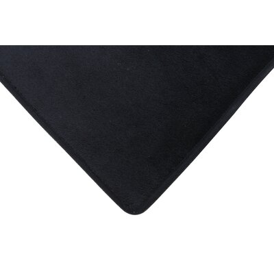 Rectangle Solid Memory Foam Kitchen Mat Color: Black