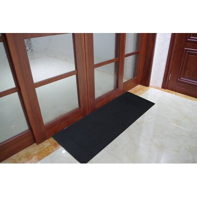 Solid Memory Foam Kitchen Mat Color: Black