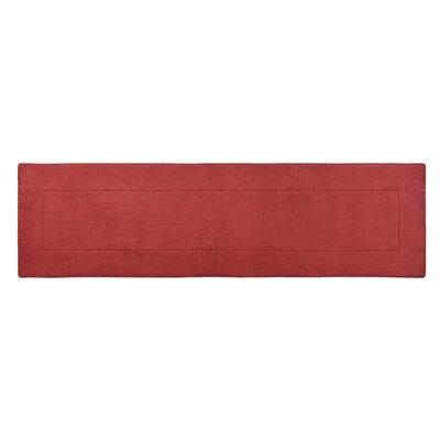 Ultra-Soft Marsala Area Rug Mat Size: Runner 2 W x 7 5 L