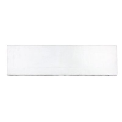 Ultra-Soft White Area Rug Rug Size: Runner 2 W x 7 5 L