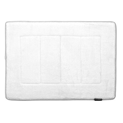 Memory Foam Bath Rug Color: White