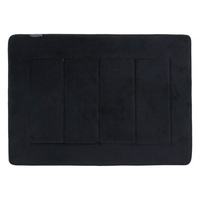 Rectangle Memory Foam Bath Rug Color: Black