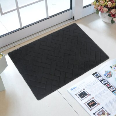 Uzoh Memory Foam Kitchen Mat Color: Black