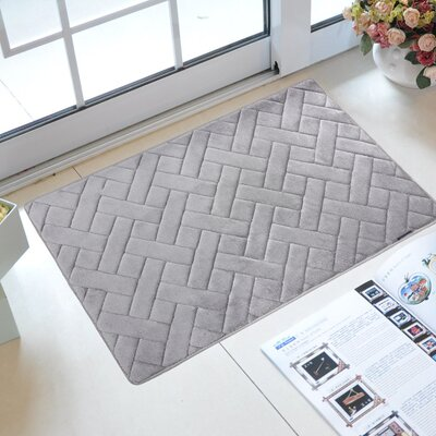 Uzoh Memory Foam Kitchen Mat Color: Slate Gray