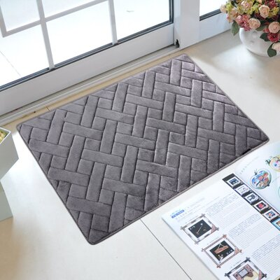 Memory Foam Kitchen Mat Color: Gray Flannel