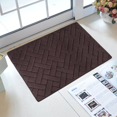 Uzoh Memory Foam Kitchen Mat Color: Coffee Brown