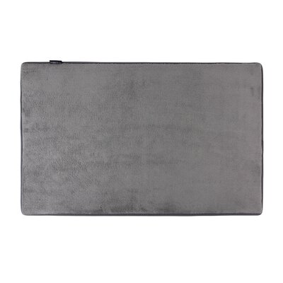 Rectangle Solid Memory Foam Kitchen Mat Color: Slate Gray