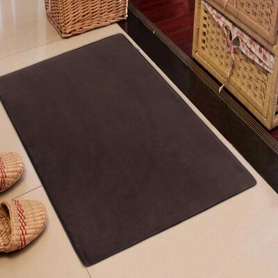 Rectangle Solid Memory Foam Kitchen Mat Color: Coffee Brown