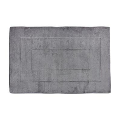 Rectangle Memory Foam Kitchen Mat Color: Slate Gray