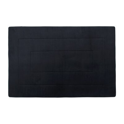 Ultra-Soft Black Area Rug Mat Size: Rectangle 3 4 W x 5 4 L