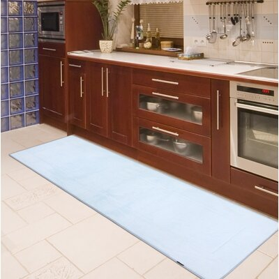 Rectangle Memory Foam Kitchen Mat Color: Sky Blue