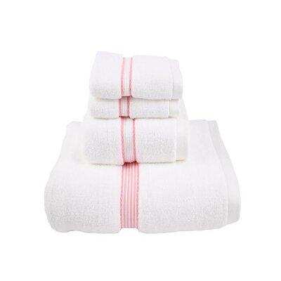 Luxury Quick-Dry Dobby Performance Core 4 Piece Towel Set Color: Rose