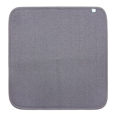 Dish Drying Mat Color: Grey, Size: 16 W x 18 D, Set of: 1
