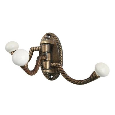 Woodcliff Three in One Wall Hook Finish: Antique Brass