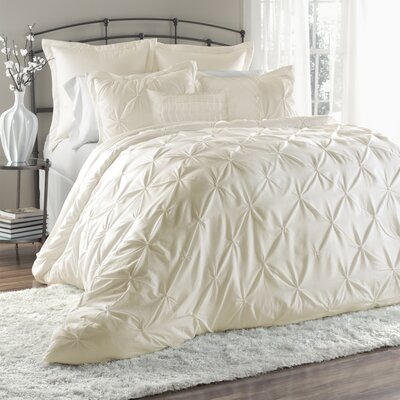 Byron 6 Piece Comforter Set Size: Queen, Color: Ivory