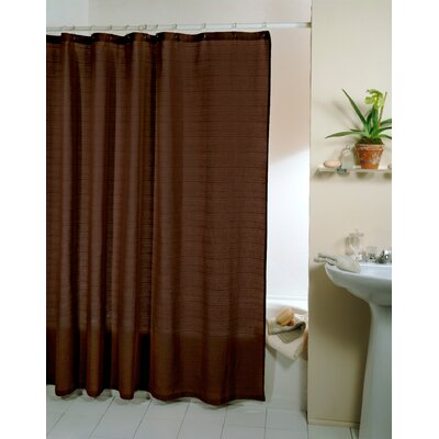 Faulkner 100% Cotton Thai Sheer Ultra Spa Shower Curtain Color: Woodland Brown