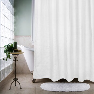 Faulkner 100% Cotton Thai Sheer Ultra Spa Shower Curtain Color: White