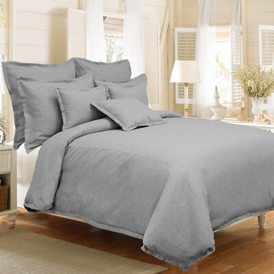 Steinbeck 3 Piece Reversible Duvet Cover Set Color: Stone, Size: King