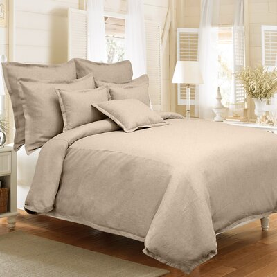Steinbeck 3 Piece Reversible Duvet Cover Set Color: Sand, Size: King