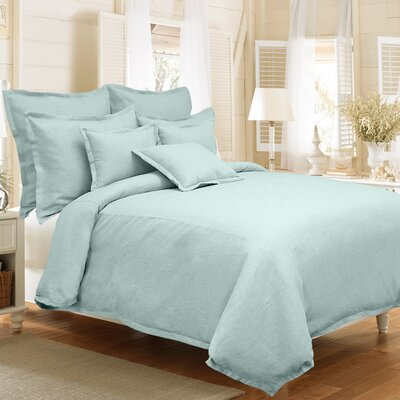 Steinbeck 3 Piece Reversible Duvet Cover Set Color: Mineral Blue, Size: King