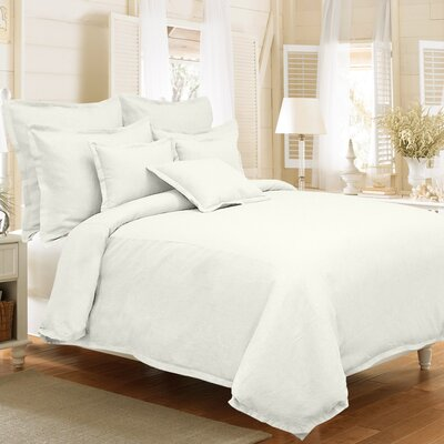 Steinbeck 3 Piece Reversible Duvet Cover Set Size: Full / Queen, Color: Pearl