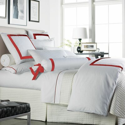Chopin Duvet Cover Size: Queen, Color: White / Red