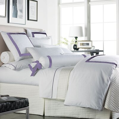 Chopin Duvet Cover Size: King, Color: White / Lilac