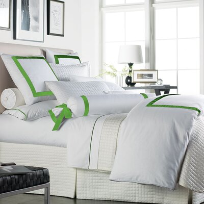 Chopin Duvet Cover Size: King, Color: White / Apple