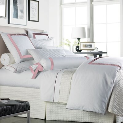 Chopin Duvet Cover Size: King, Color: White / Pink