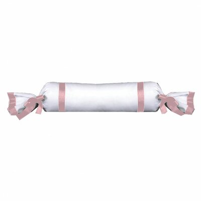 Chopin Cotton Bolster Pillow Color: White / Pink