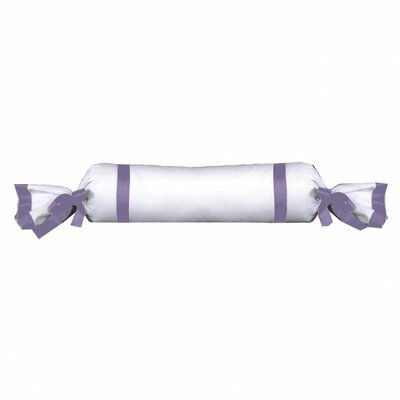 Chopin Cotton Bolster Pillow Color: White / Lilac